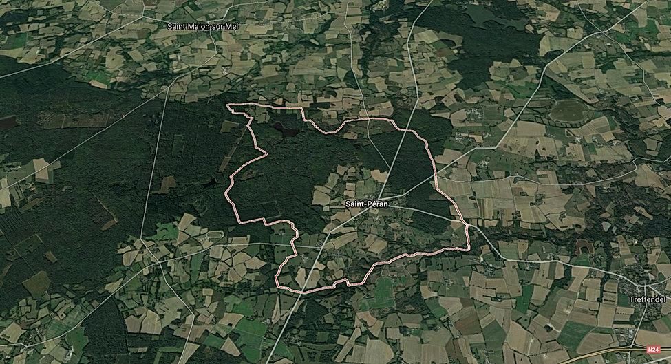 photo aérienne de Saint-Péran