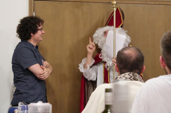 Saint Nicolas fait un crochet au séminaire