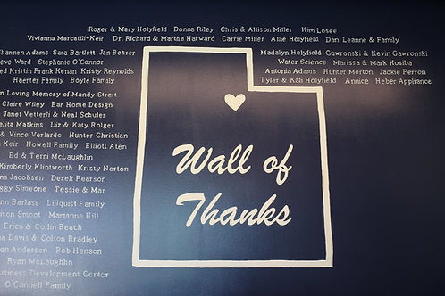 Wall of Thanks