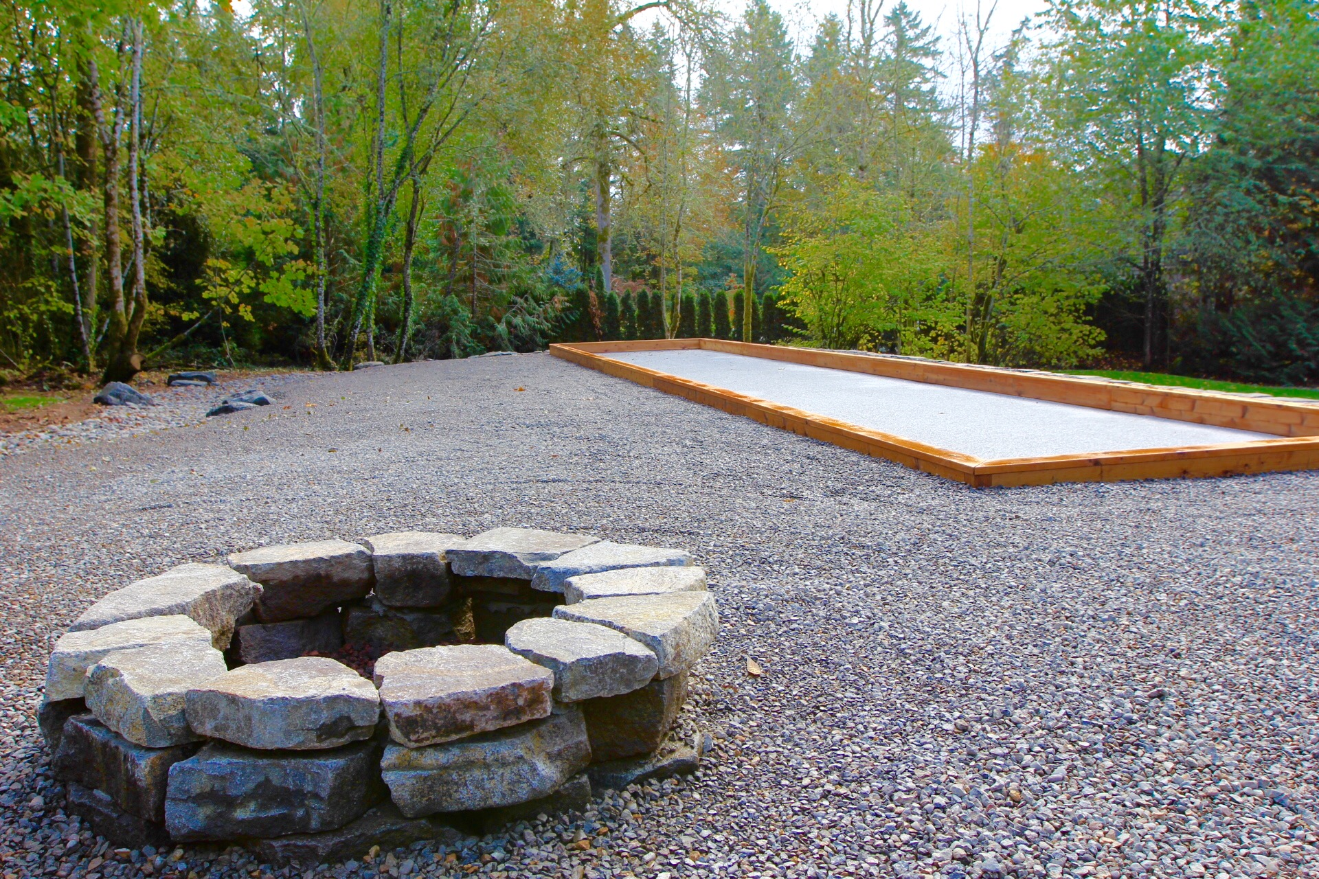 Firepit & Bocce Court