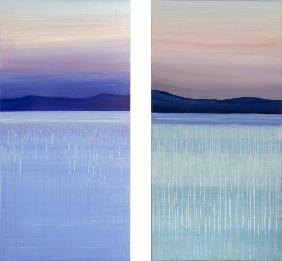 Shades of dawn, 2x100x50 cm