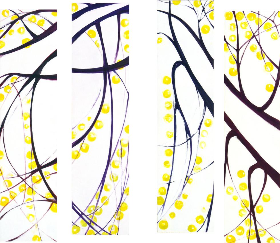 Autumn, 4 x 160x40 cm
