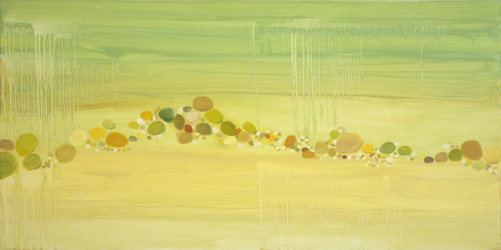 In shallow waters, 50x100 cm