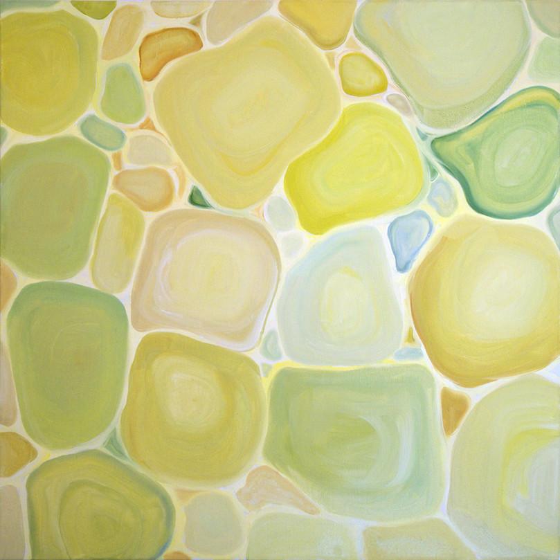 Transparent waters, 80x80 cm