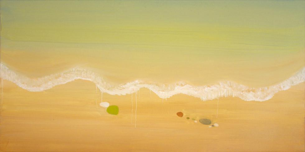 Αφρός και άμμος (Foam and sand), 50x100 cm