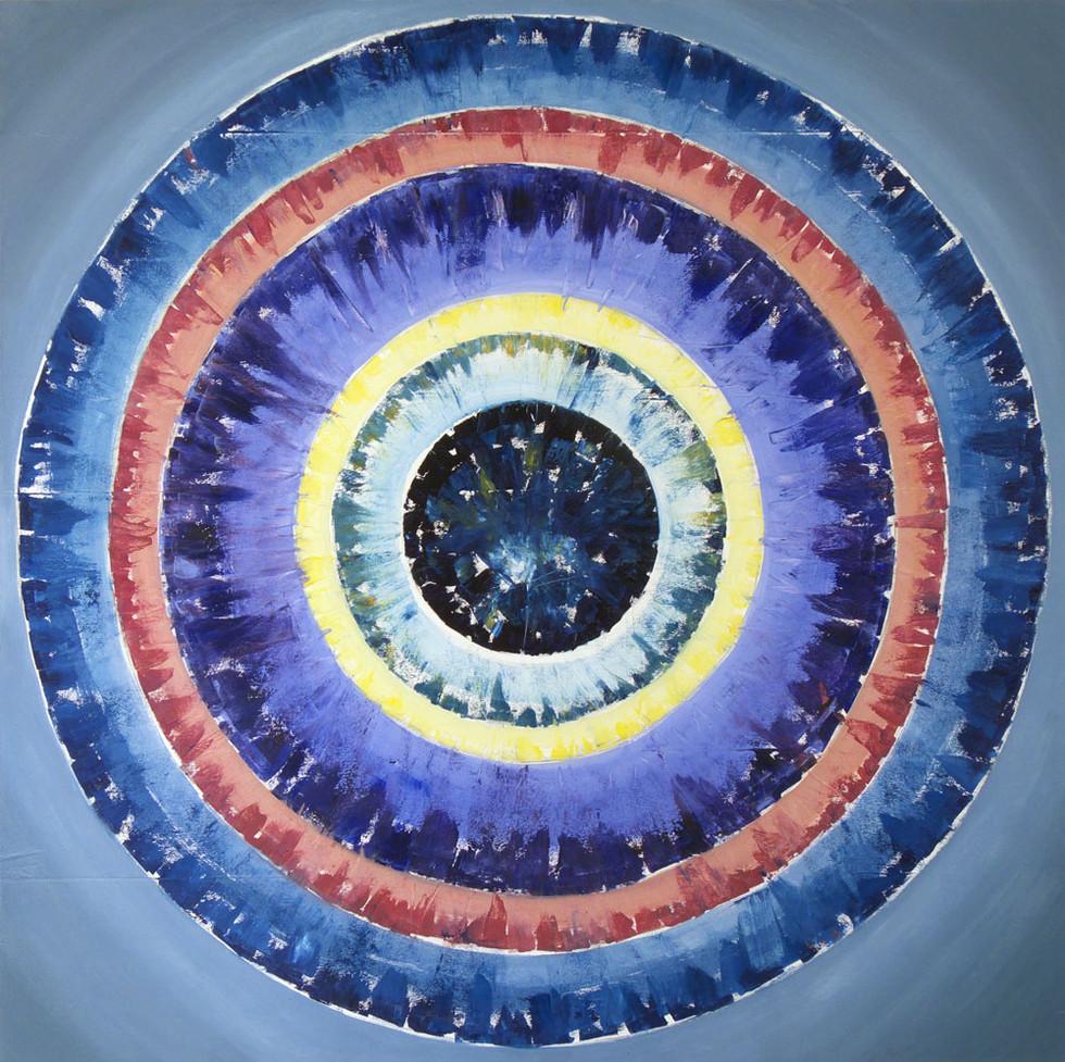 Mandala, 110x110 cm