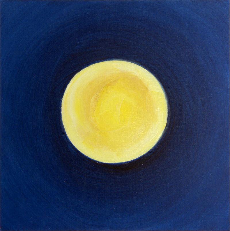 Full moon, 40x40 cm