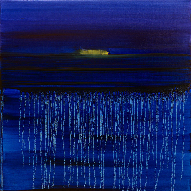 Lights fading in the storm, 50x50 cm
