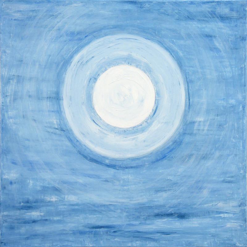 Blue moon, 80x80 cm