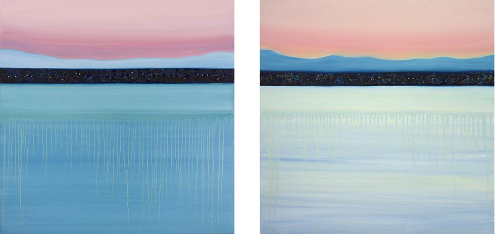 Shades of dawn, 2x80x80 cm