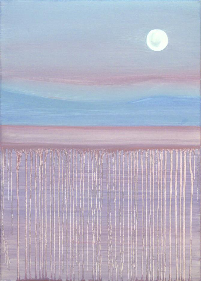 Blue-red moon, 70x50 cm
