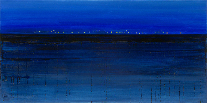 Deep blue, 50x100 cm