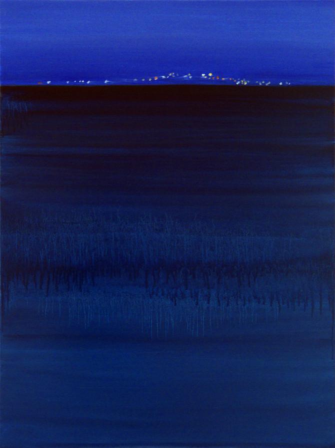 Deep blue, 80x60 cm