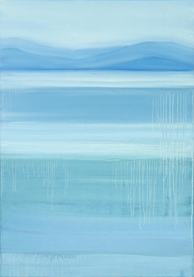 Striped sea, 100x70 cm