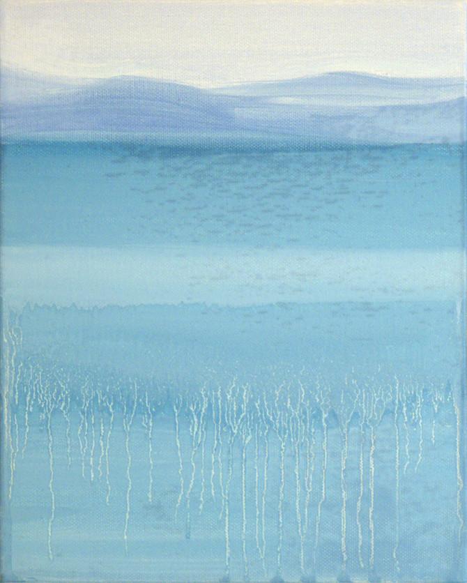 Striped sea, 30x24 cm