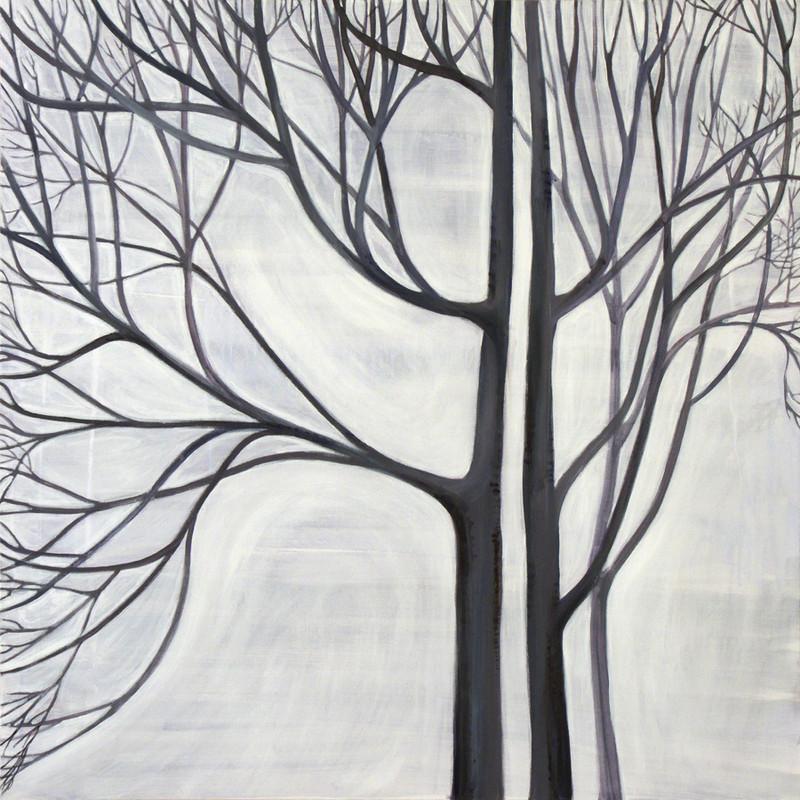 Shades of winter, 80x80 cm