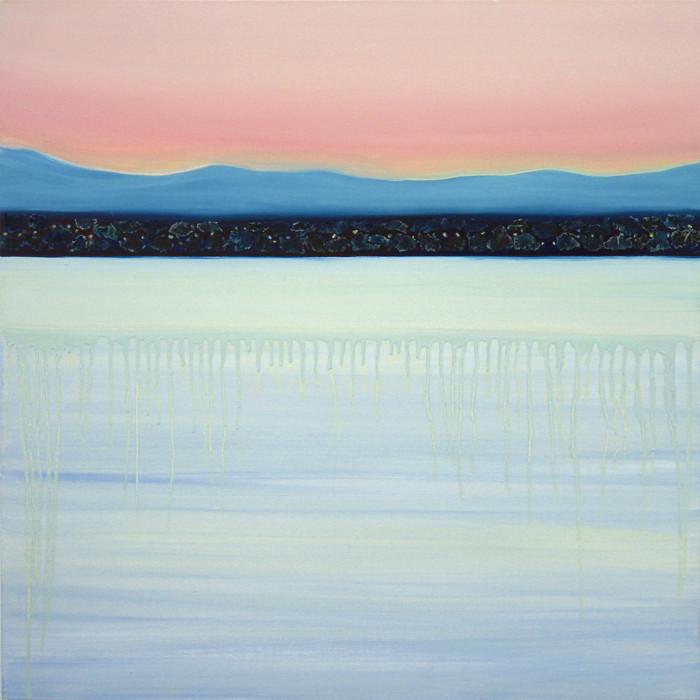 Shades of dawn, 80x80 cm