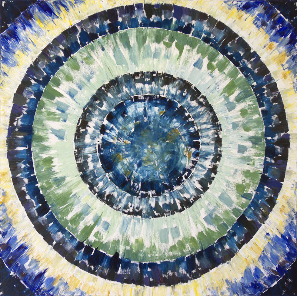 Deep blue, 80x80 cm