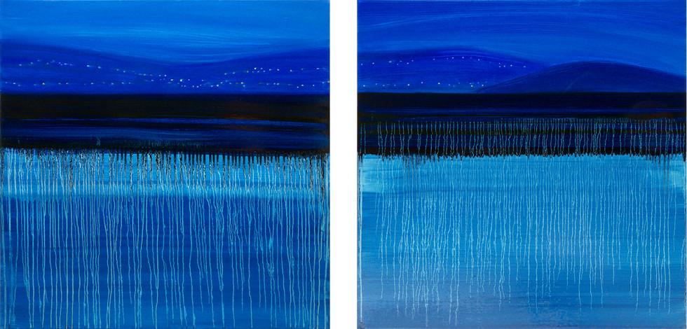 Night blue, 2x80x80 cm