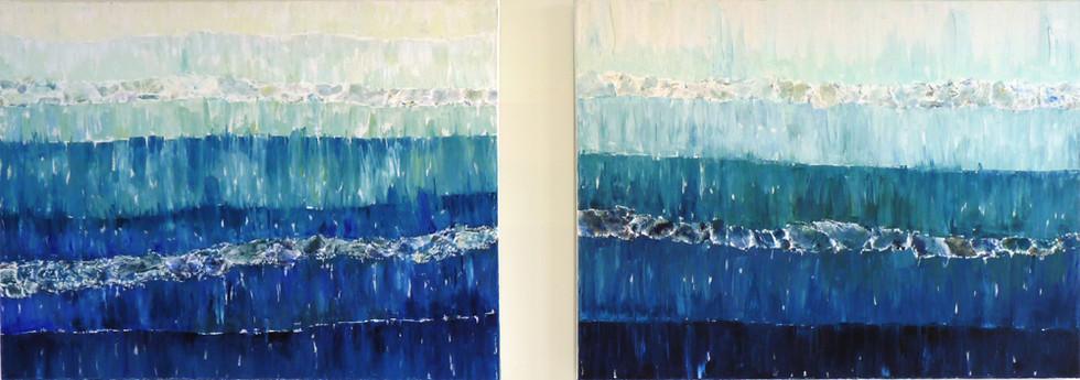 Underwater, 2 x 60x80 cm