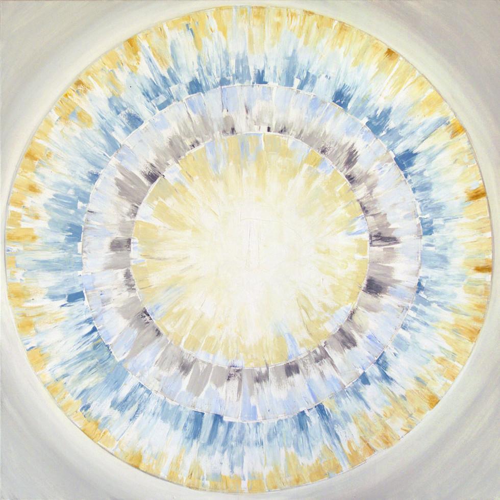 Shades of white, 80x80 cm