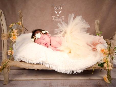 Création lit bois flotté pour séance photo naissance