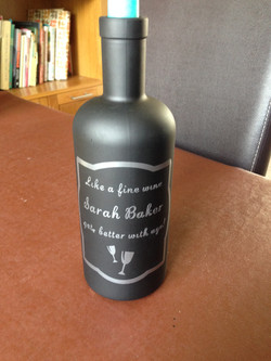 Personalised bottle candlestick