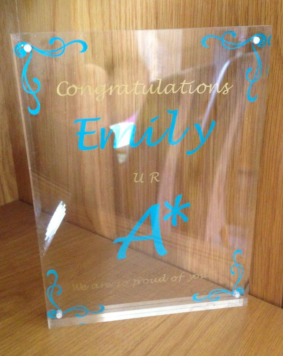 Personalised exam achievement award