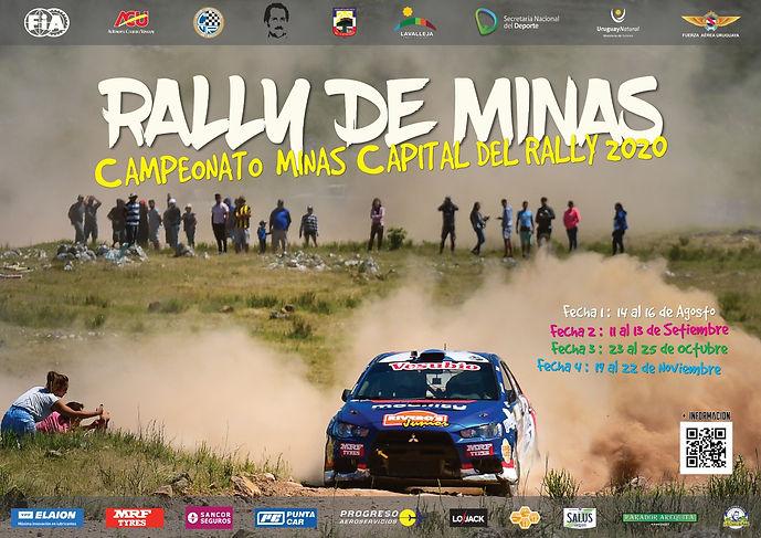 Poster Rally Uruguayo Minas 2020