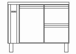 Kühltisch mit 2 Schubladen