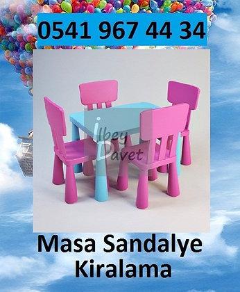 Çocuk Masa Sandalye Takımı Kiralama
