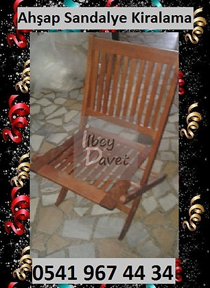 Katlanır Sandalye Kiralama