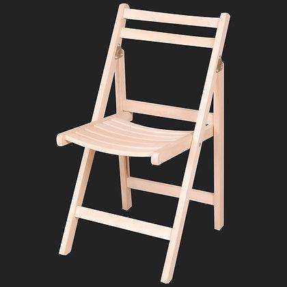 Ahşap (Beyaz ve Kahverengi) Açılır Katlanır Minderli Sandalye