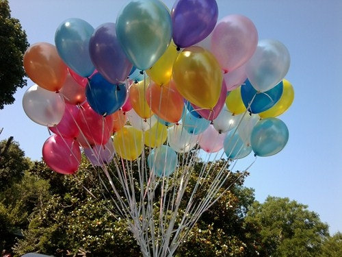 Uçan Balon 12 inch kauçuk balon, Helyum gazlı balon