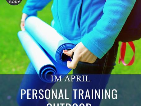 Ab dem 12. April biten wir Outdoor Personal Training an