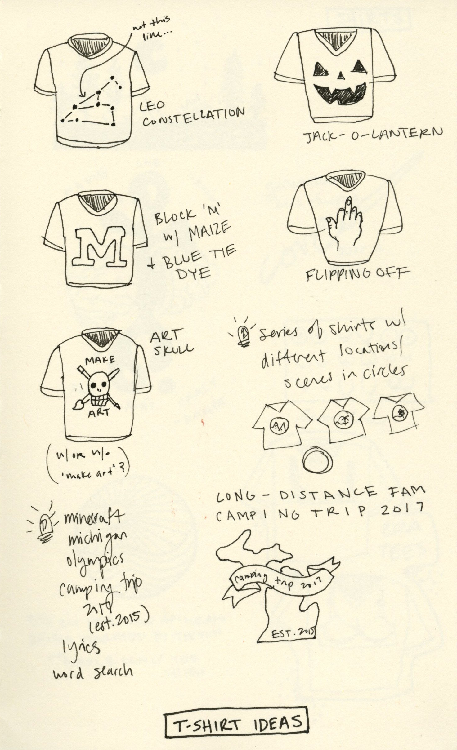 Shirt Sketches