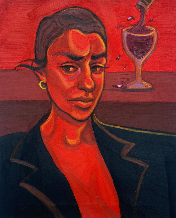 red hue painting ania