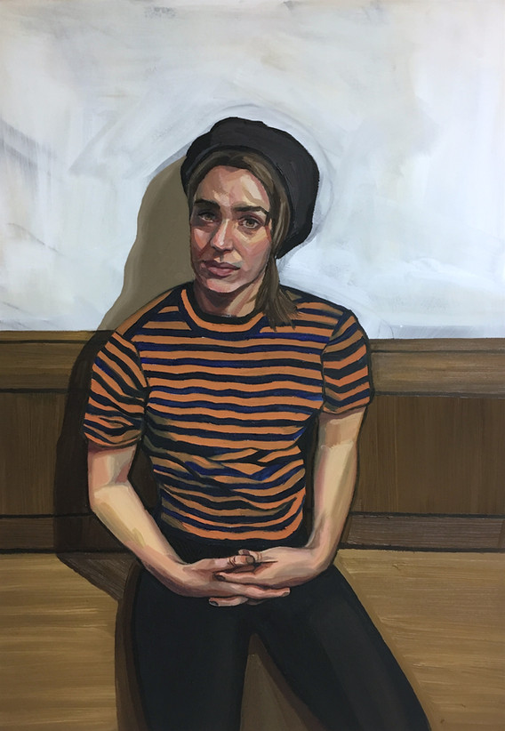 'GIRL IN STRIPED T' Ania Hobson Suffolk.