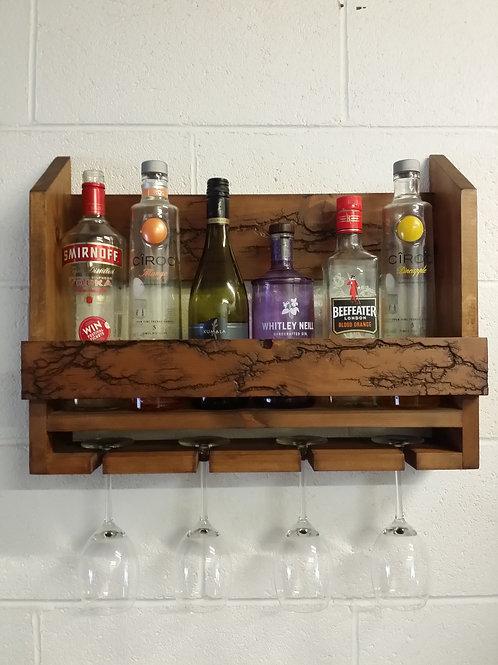 Gin-Wine Rack with unique design fractal burning