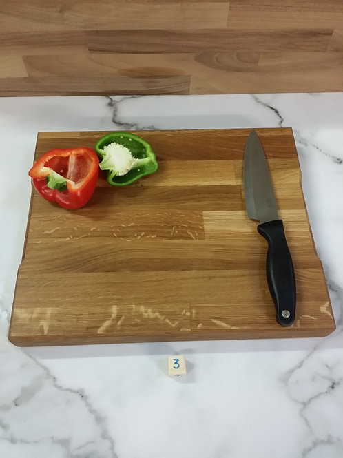 Chopping board-cutting board handmade wood 370x300x40mm