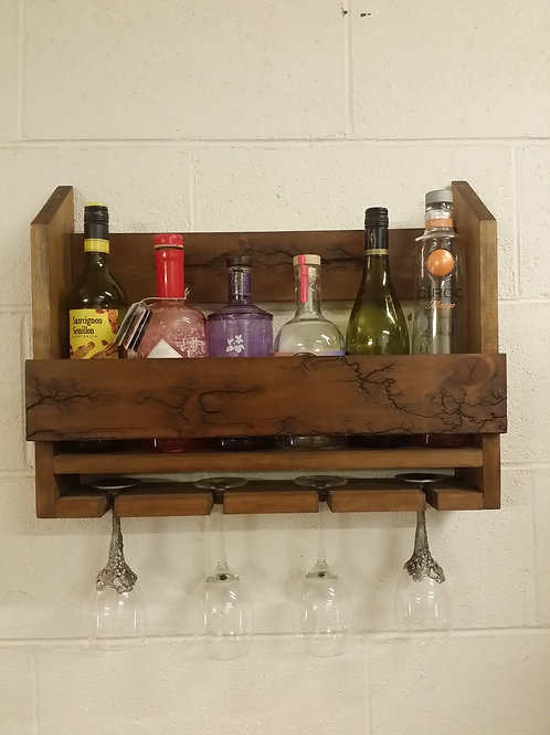 handmade wine-gin rack unique design