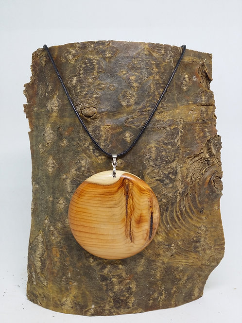 Hand made Pendant in yew wood
