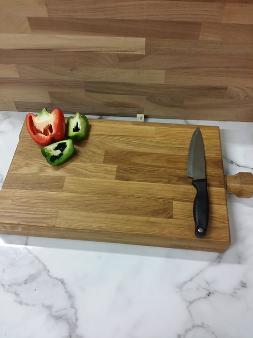 Handmade wooden Chopping board large chunky 60mm thick