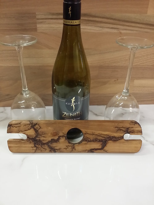 Wine glass carrier