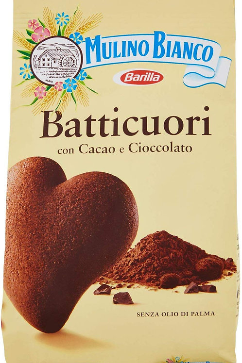 Mulino Bianco Biscotti Frollini Batticuori al Cacao, Perfetti per la Colazione -
