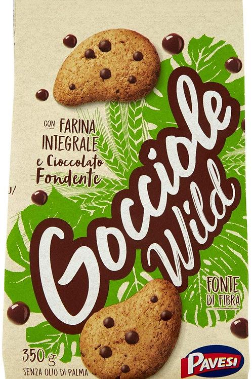 Pavesi Biscotti Gocciole Cioccolato Wild Integrali, Biscotti da Colazione - 350