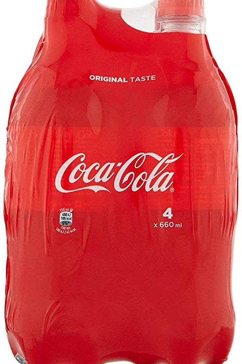 Coca-Cola Original Taste - Confezione da 4 x 660 ml