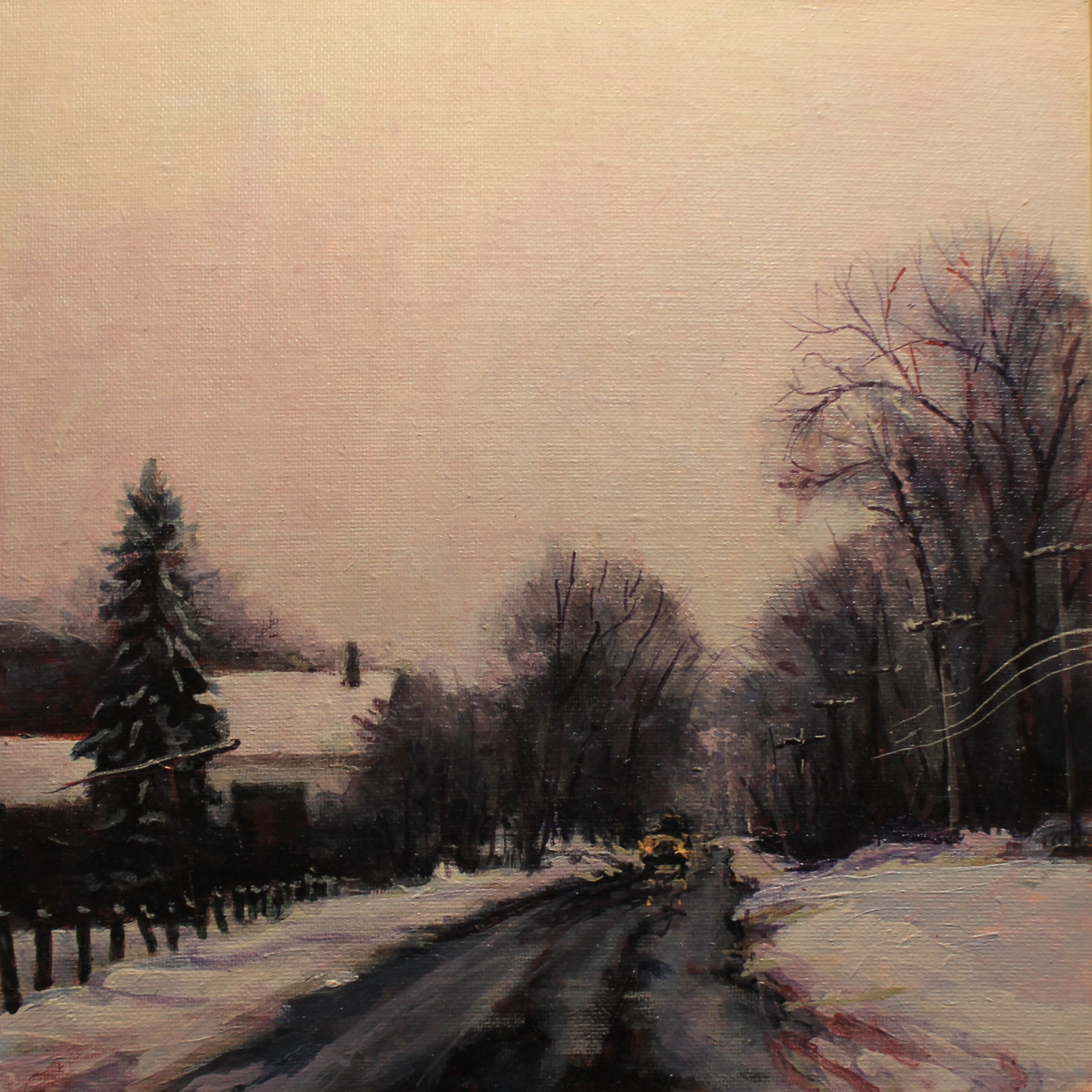 Atop Flat Hill in Winter SOLD