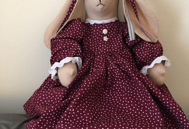 Custom Hand Stitched Bunny