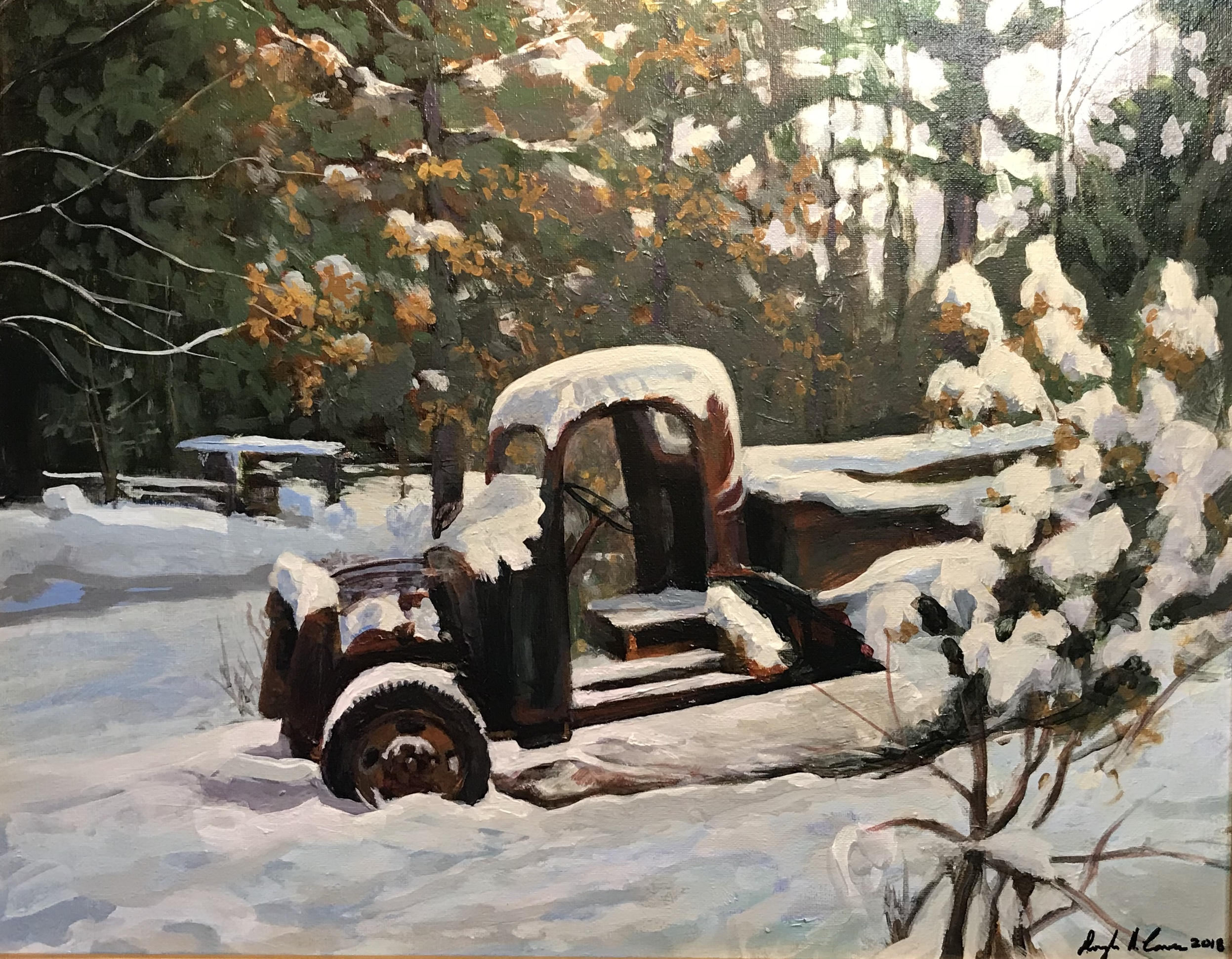Old Truck in the Snow SOLD